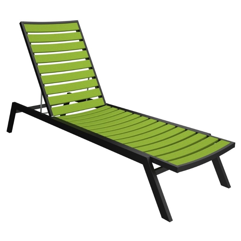 Recycled Plastic Chaise Lounges Outdoor Patio  Pool