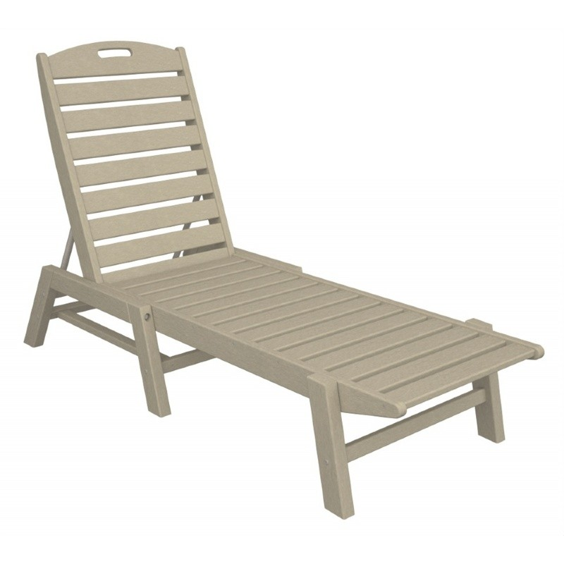 Recycled Plastic Nautical Chaise Lounge Stackable PW