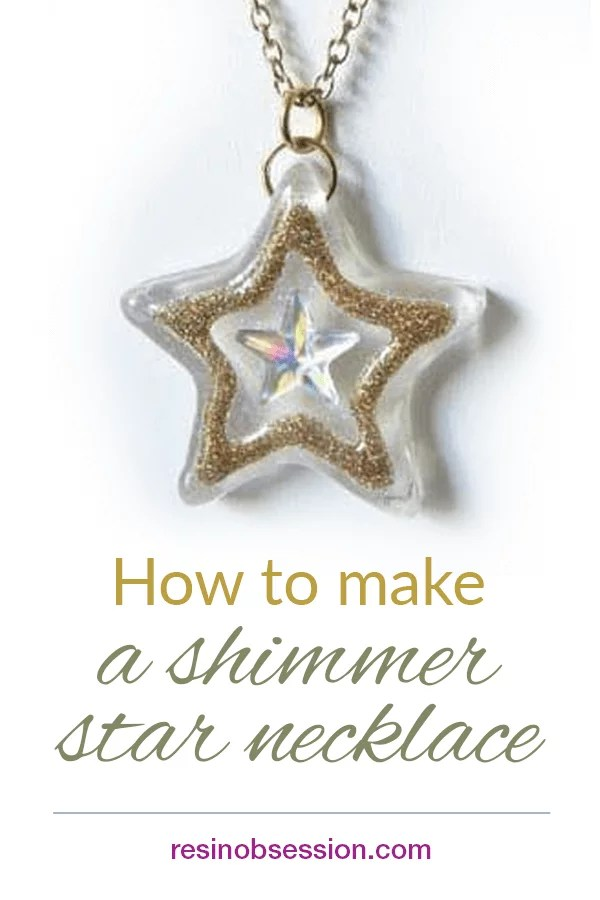 Shimmer star resin necklace tutorial