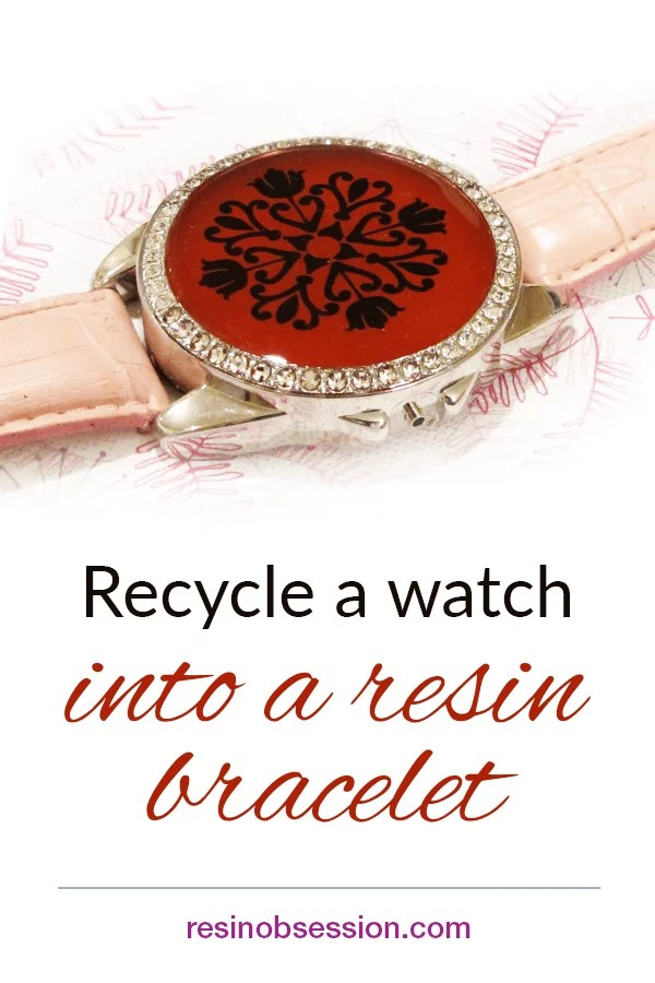 recycled watch resin bracelet