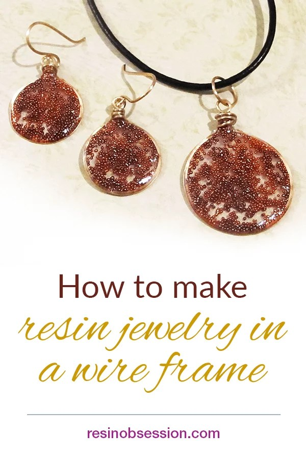 How to make wire and resin jewelry