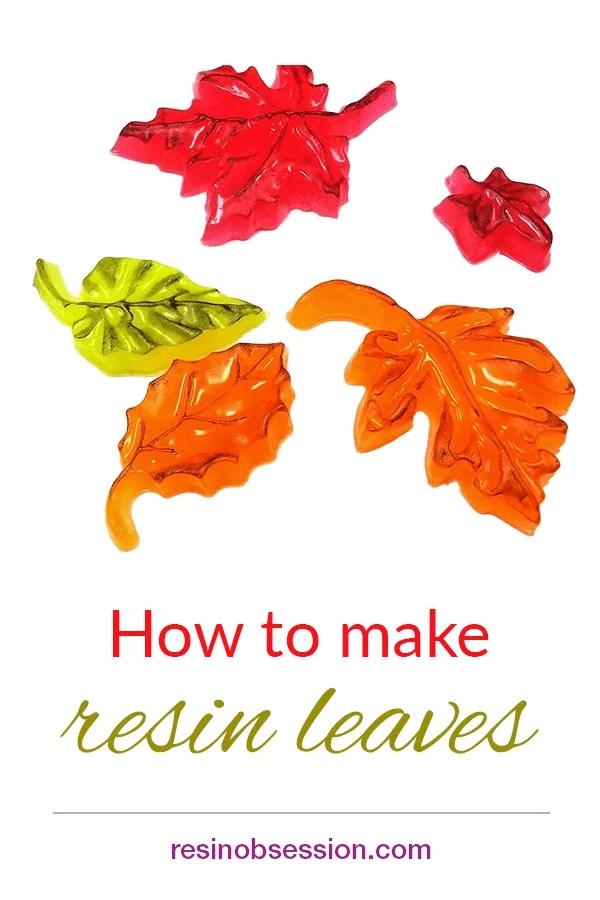 neon resin leaves tutorial
