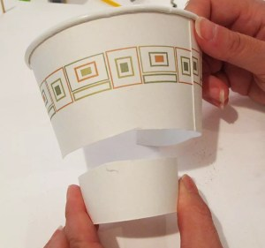 paper cup as a mold box