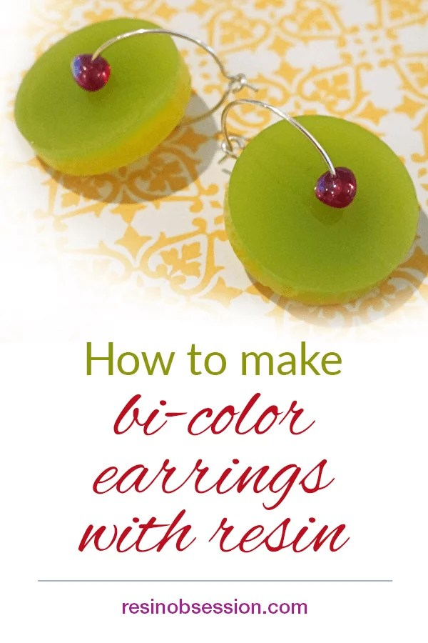 make bi color earrings