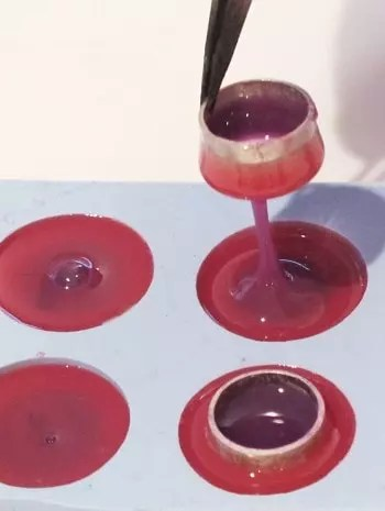 removing tube from resin