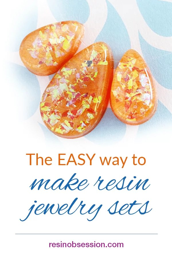 How to make resin jewelry sets