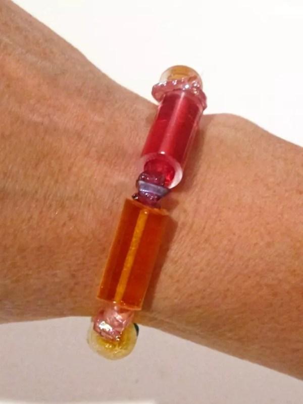 DIY resin bead bracelet