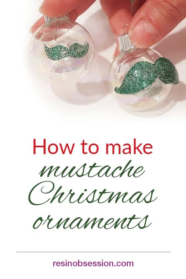 mustache Christmas ornaments