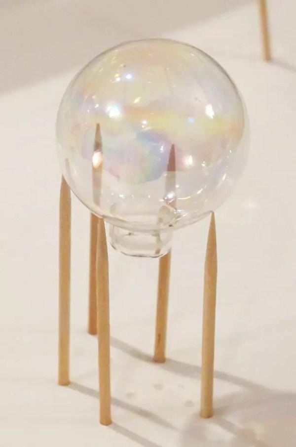 ornament on toothpicks