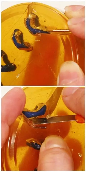 trim mold away from model