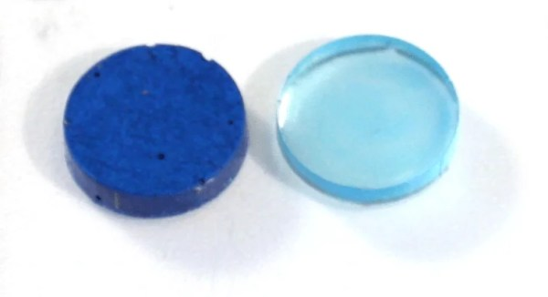 Two shades of blue resin charms