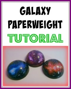 galaxy resin paperweight