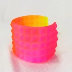 neon ombre resin bracelet