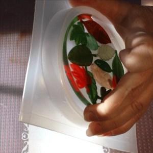 unmolding a resin coaster