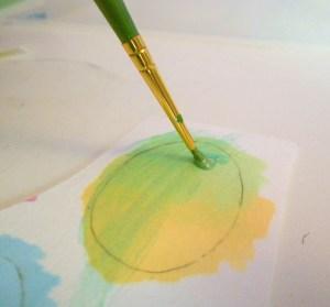 applying glaze