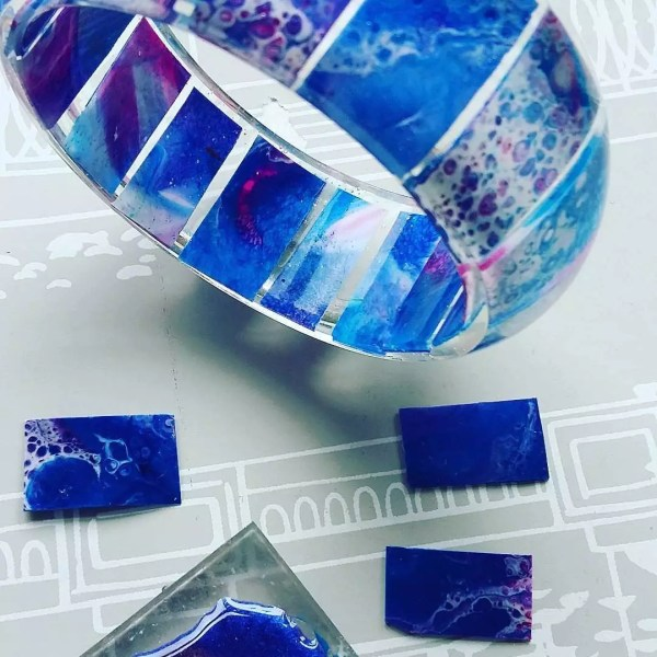 resin on acrylic