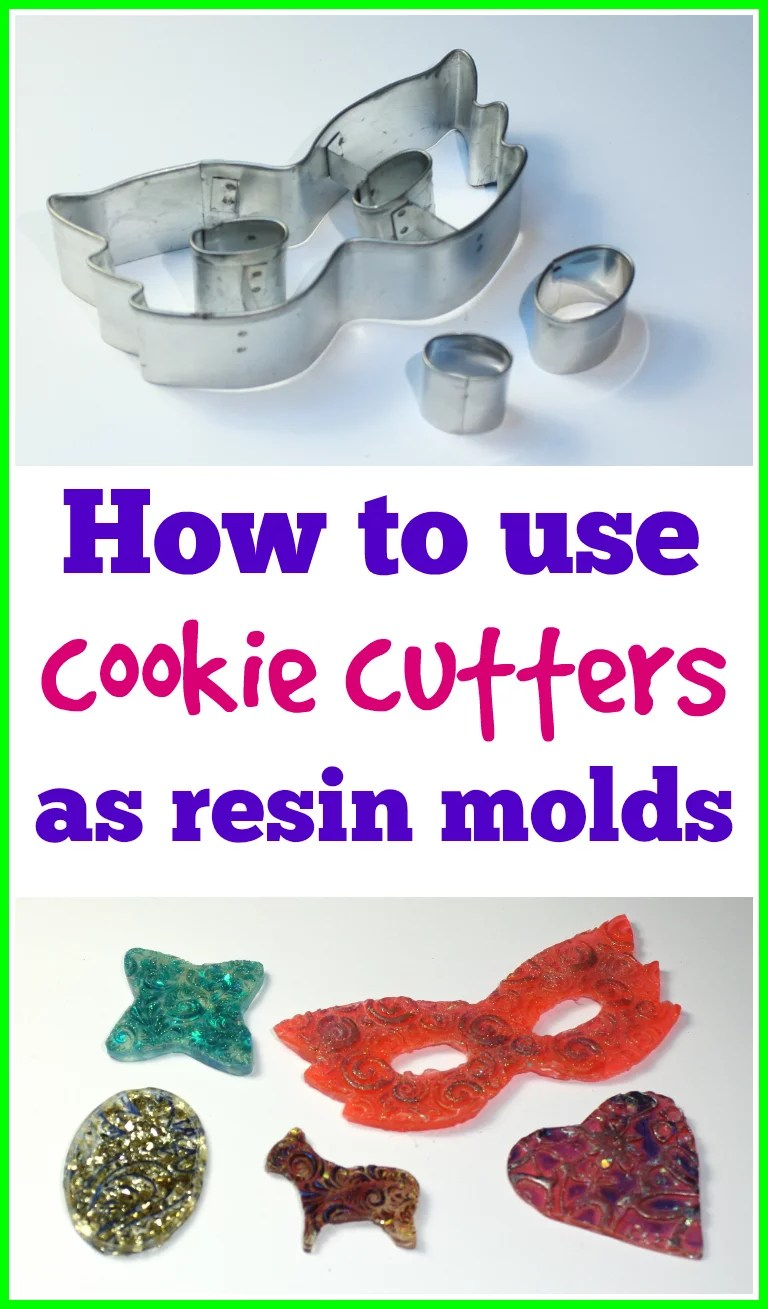 how to use cookie cutters as resin molds