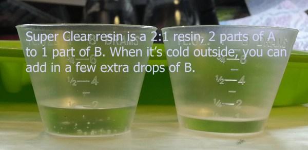 measuring resin