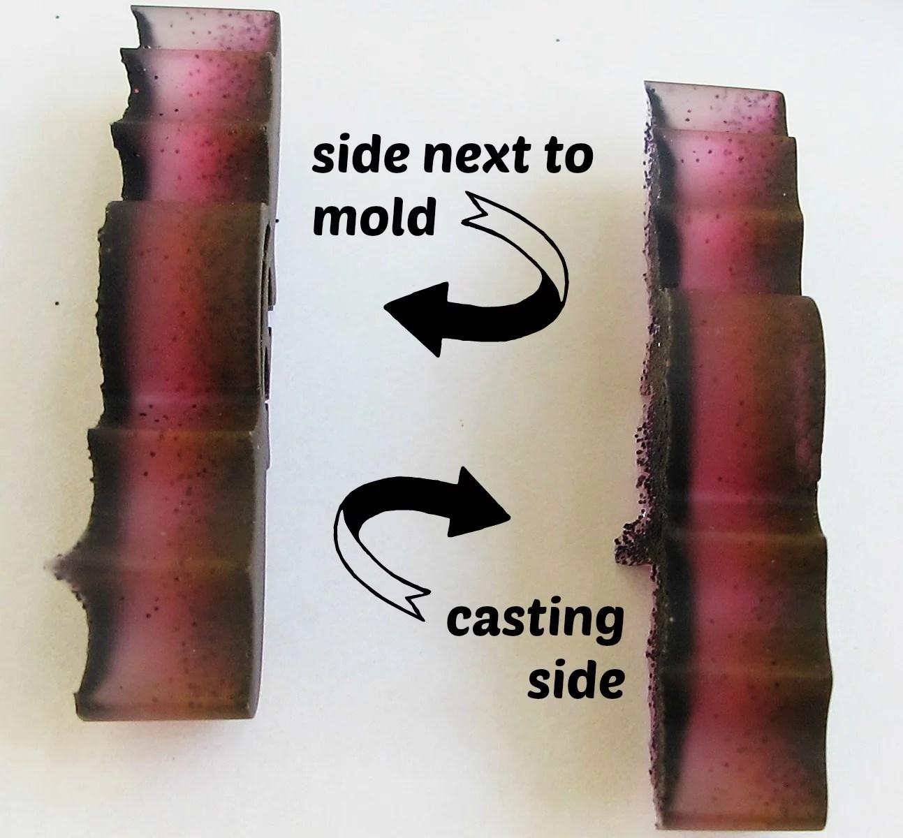 resin bat detail