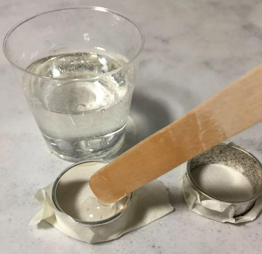 pour resin into bezel