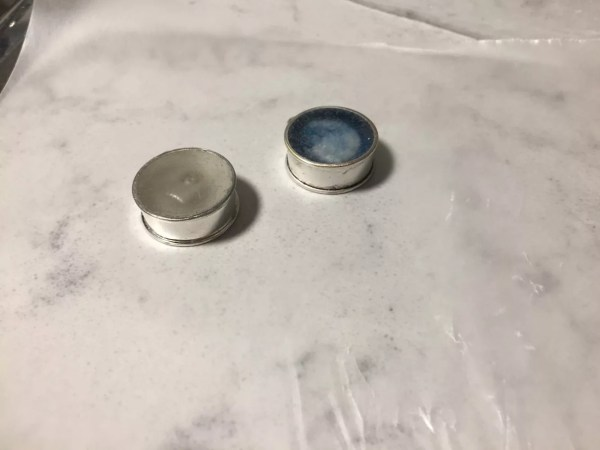 bezels with tape removed
