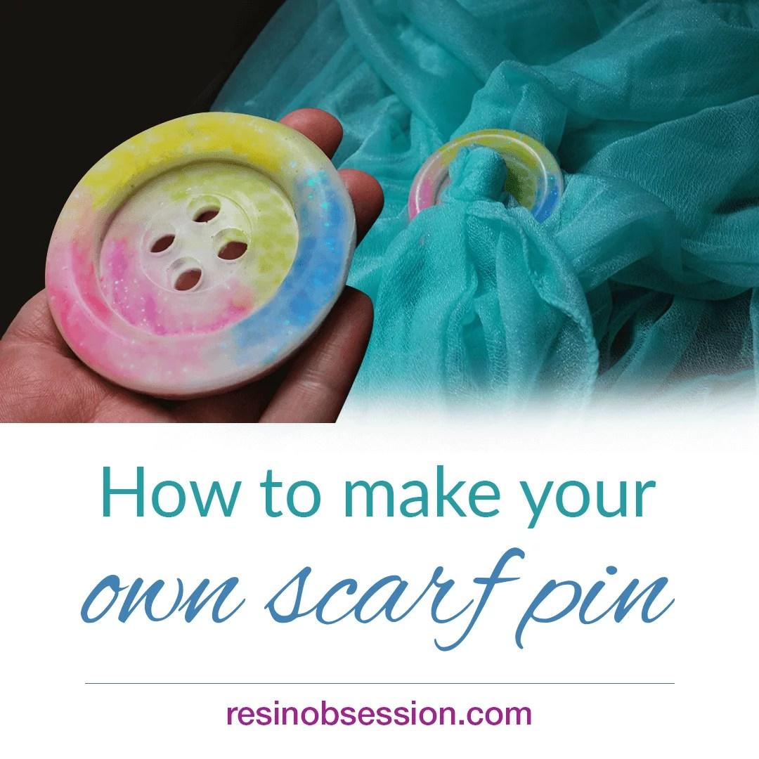 DIY scarf pin