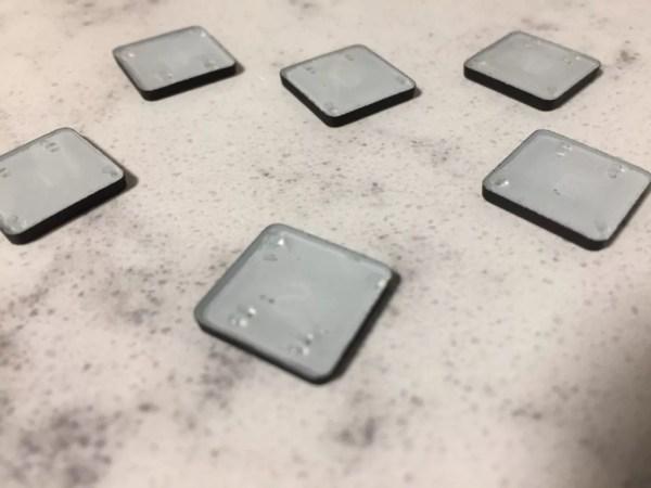 cured resin in keyboard keys