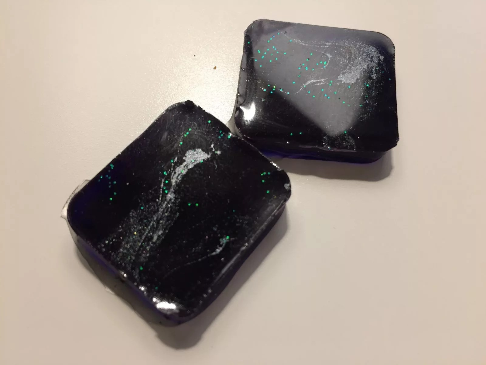 purple resin charms