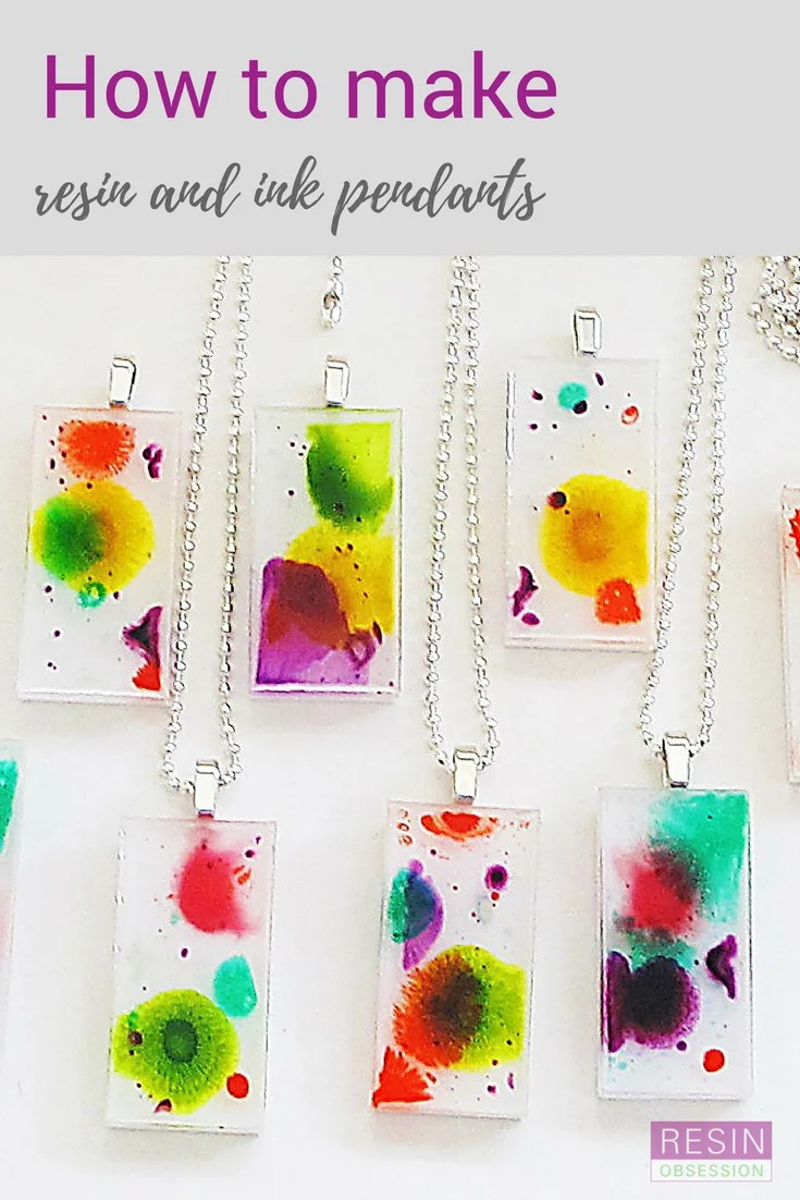 how to make resin and ink pendants