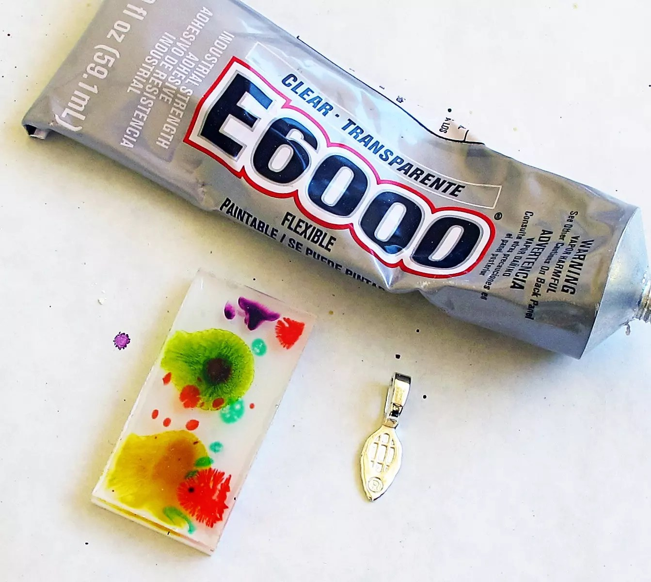 glue bails onto resin charms with E6000