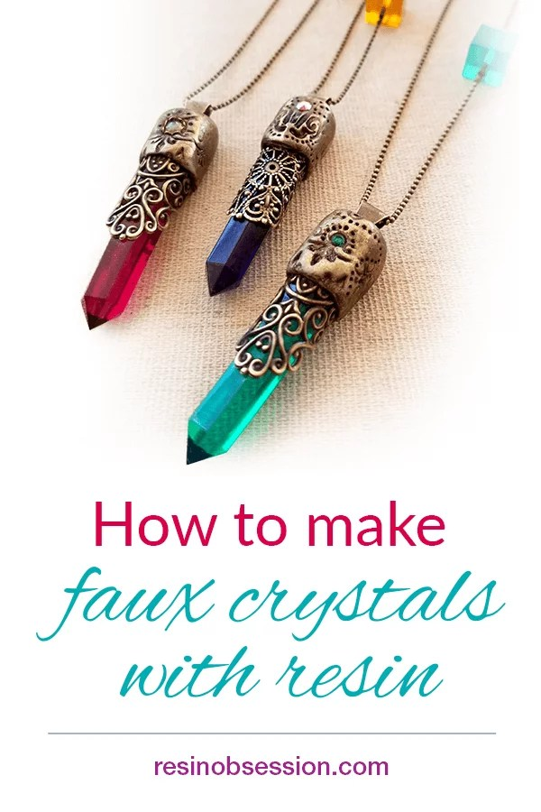 How to make crystals with resin