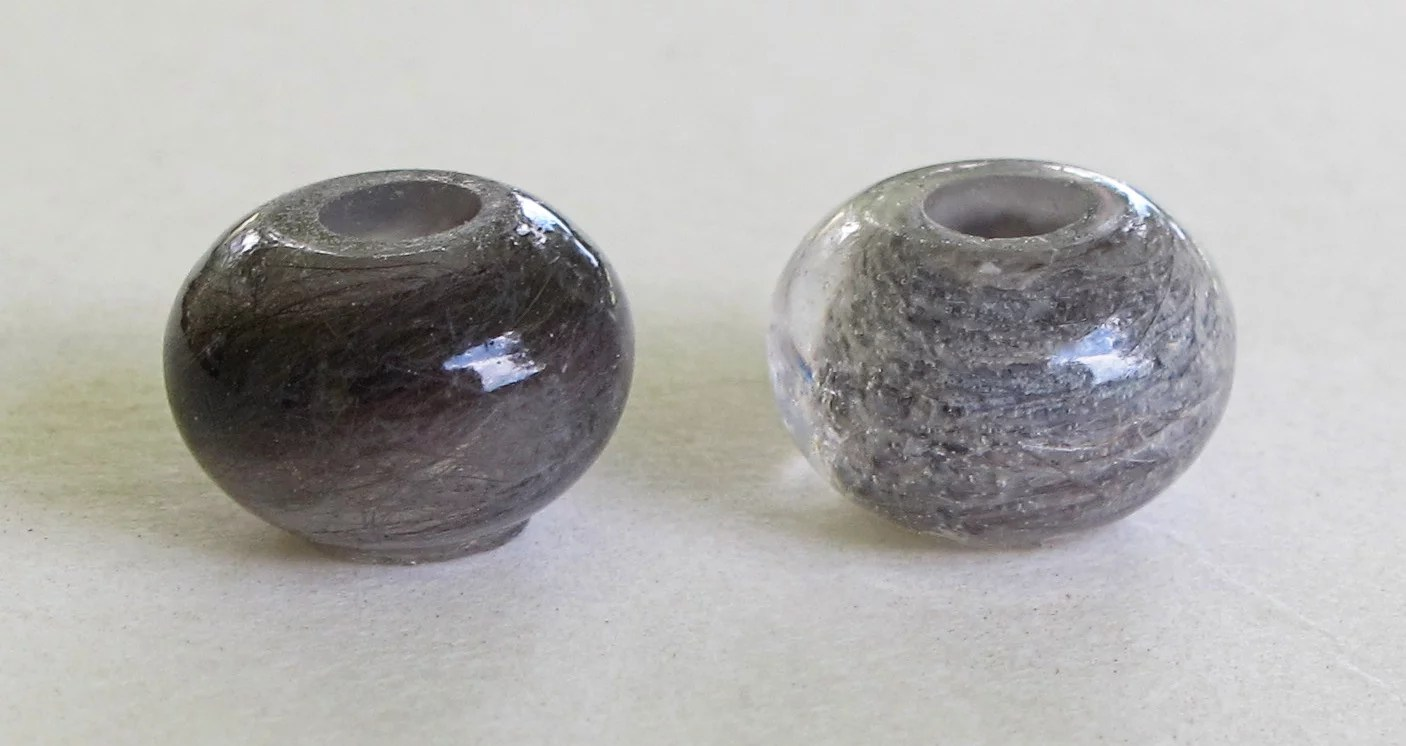 pet hair beads made with resin