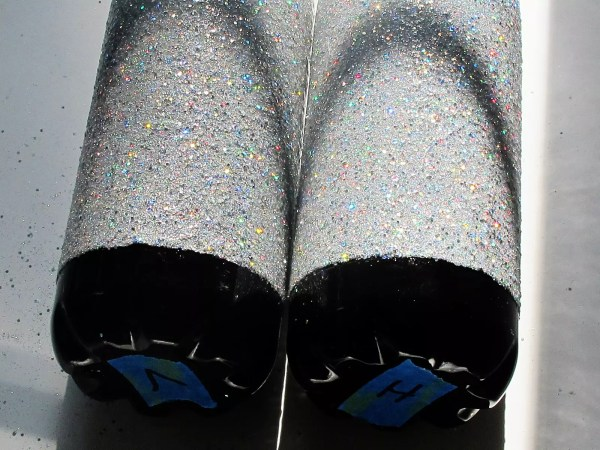 glittered stainless steel tumblers finished with resin