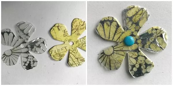 resin paper flowers