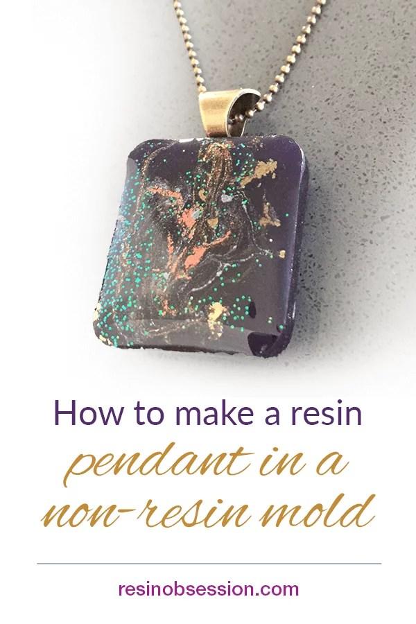resin pendant making in non resin molds