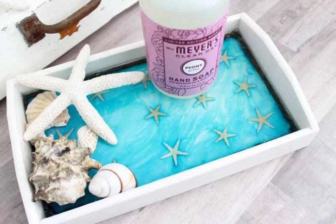 beach themed tray DIY