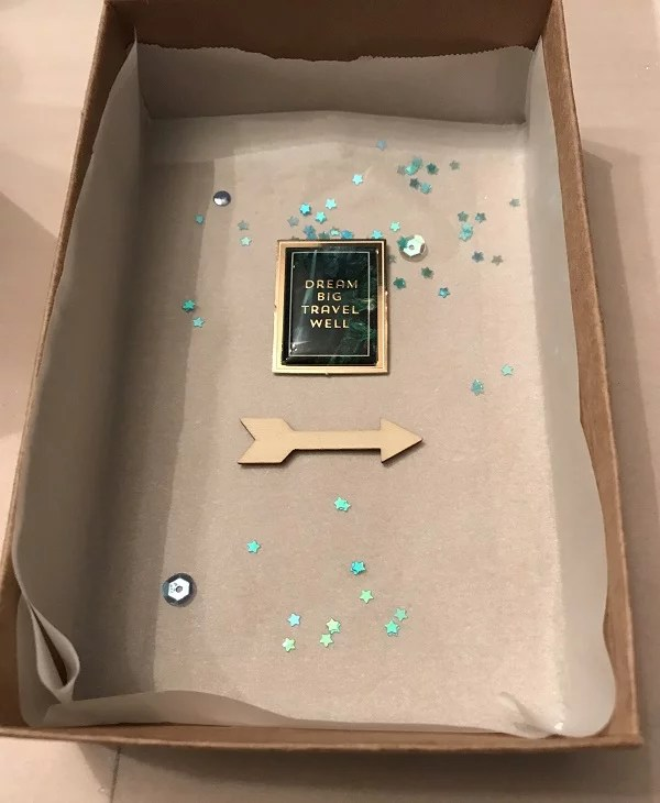 resin mold with a box and parchment paper
