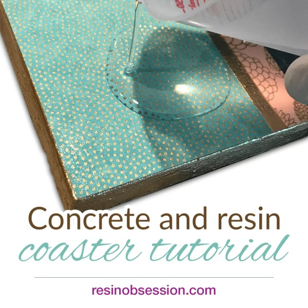 concrete and resin coaster tutorial