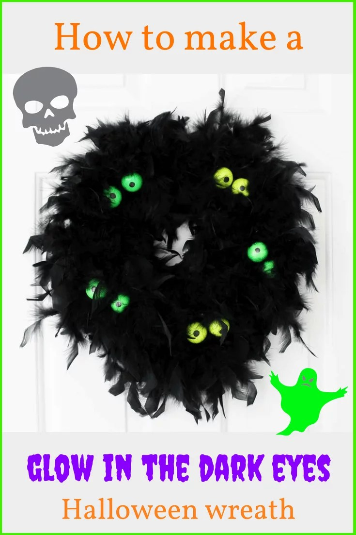 How to make a resin glow in the dark eyes Halloween wreath DIY