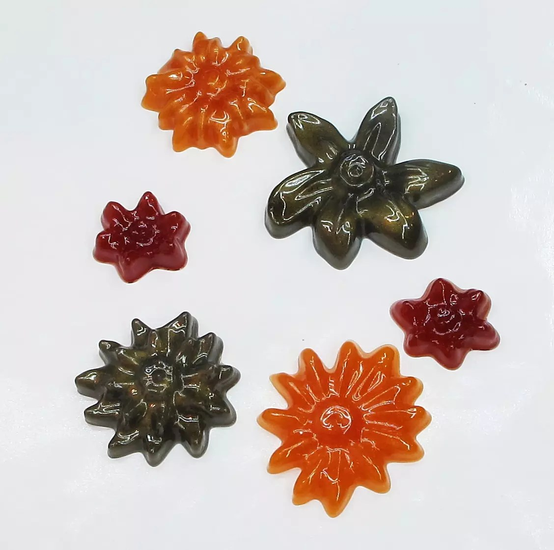 resin flower charms