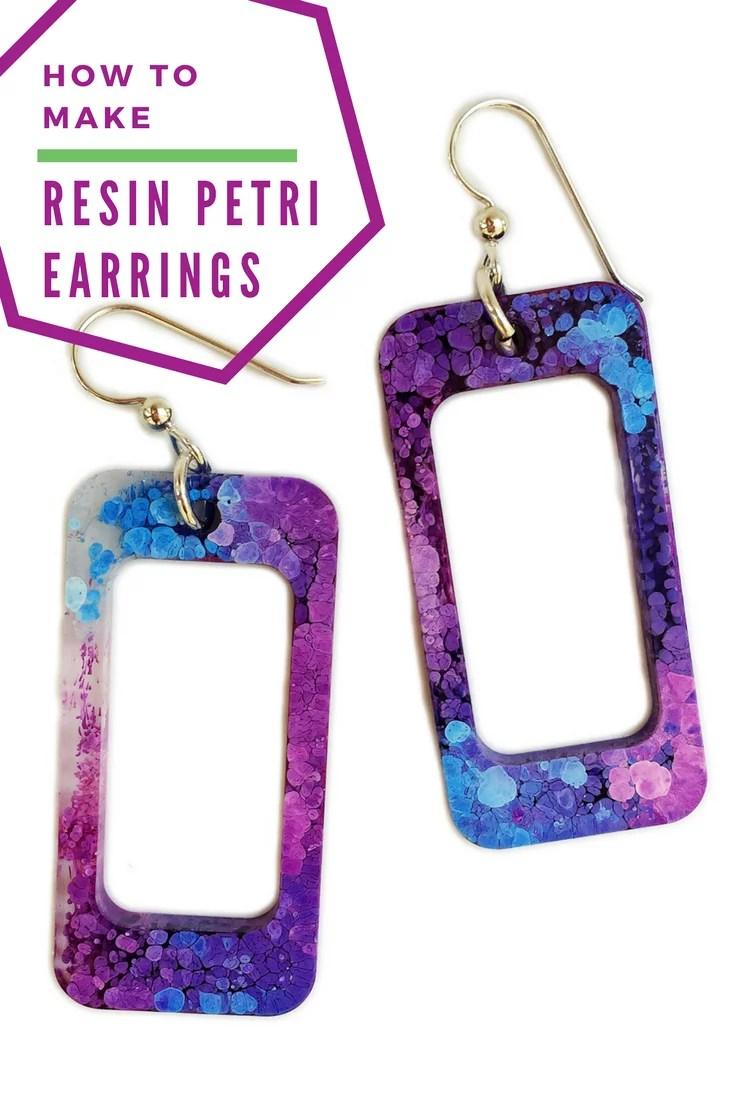 How to make resin petri earrings