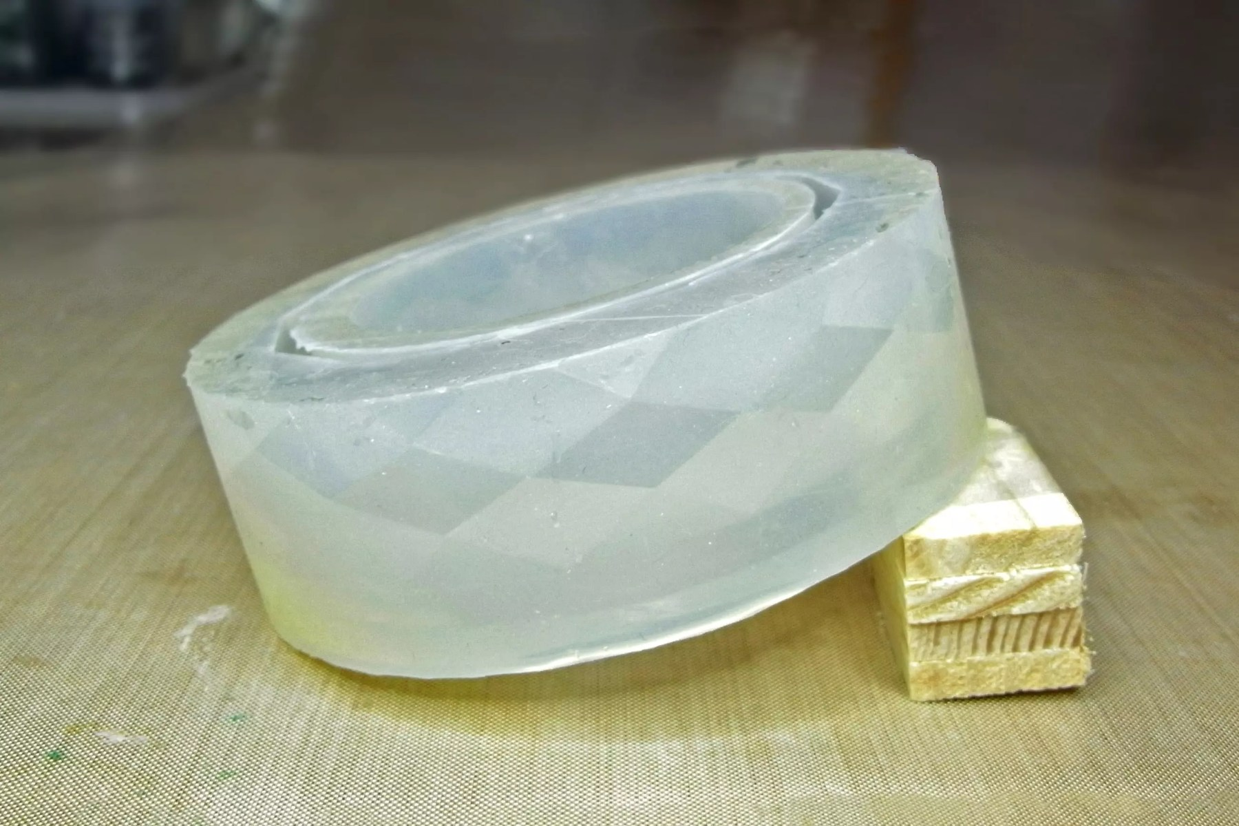 propped up resin bangle mold