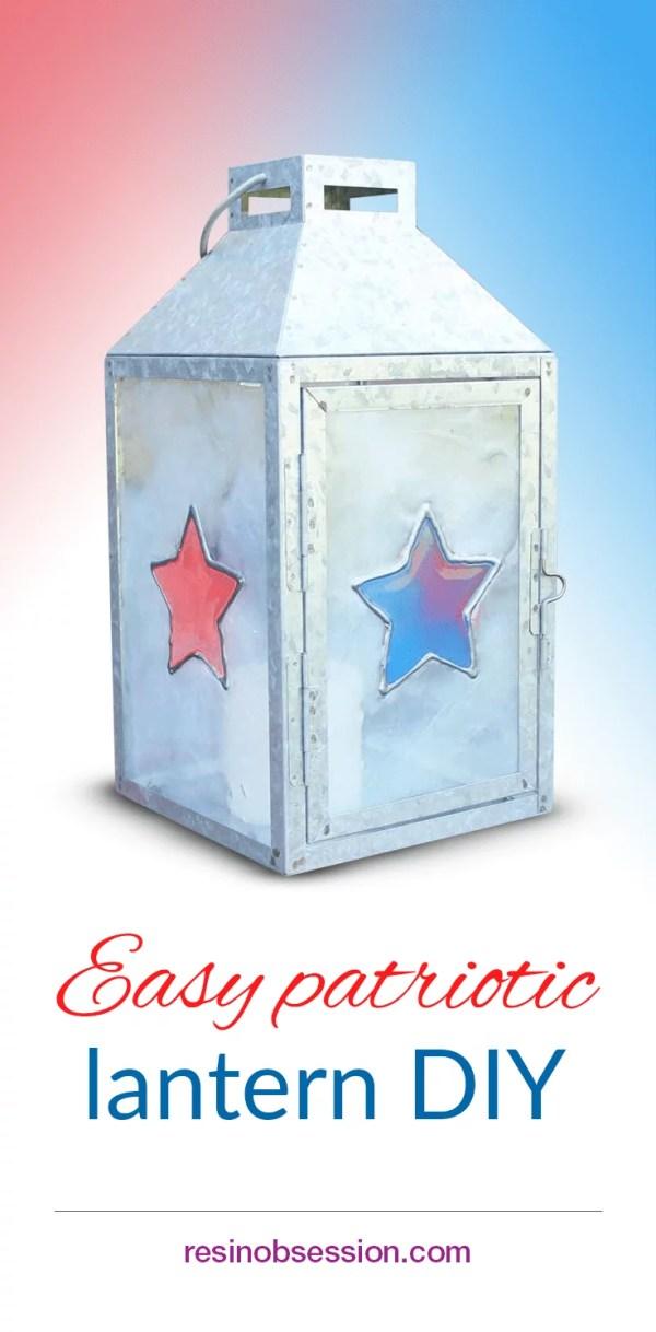 DIY patriotic lantern
