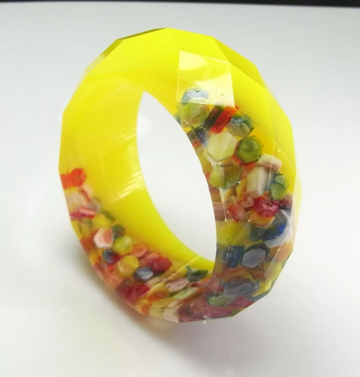 resin bangle bracelet DIY