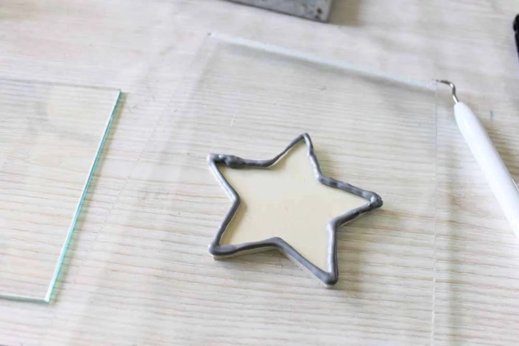 silver leading star shape