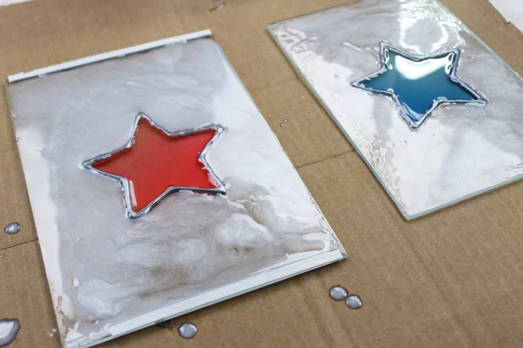 resin coated glass lantern panes