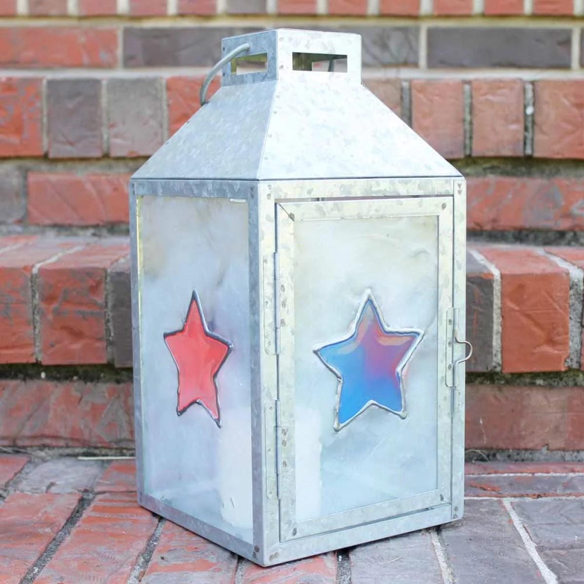 diy resin patriotic lantern