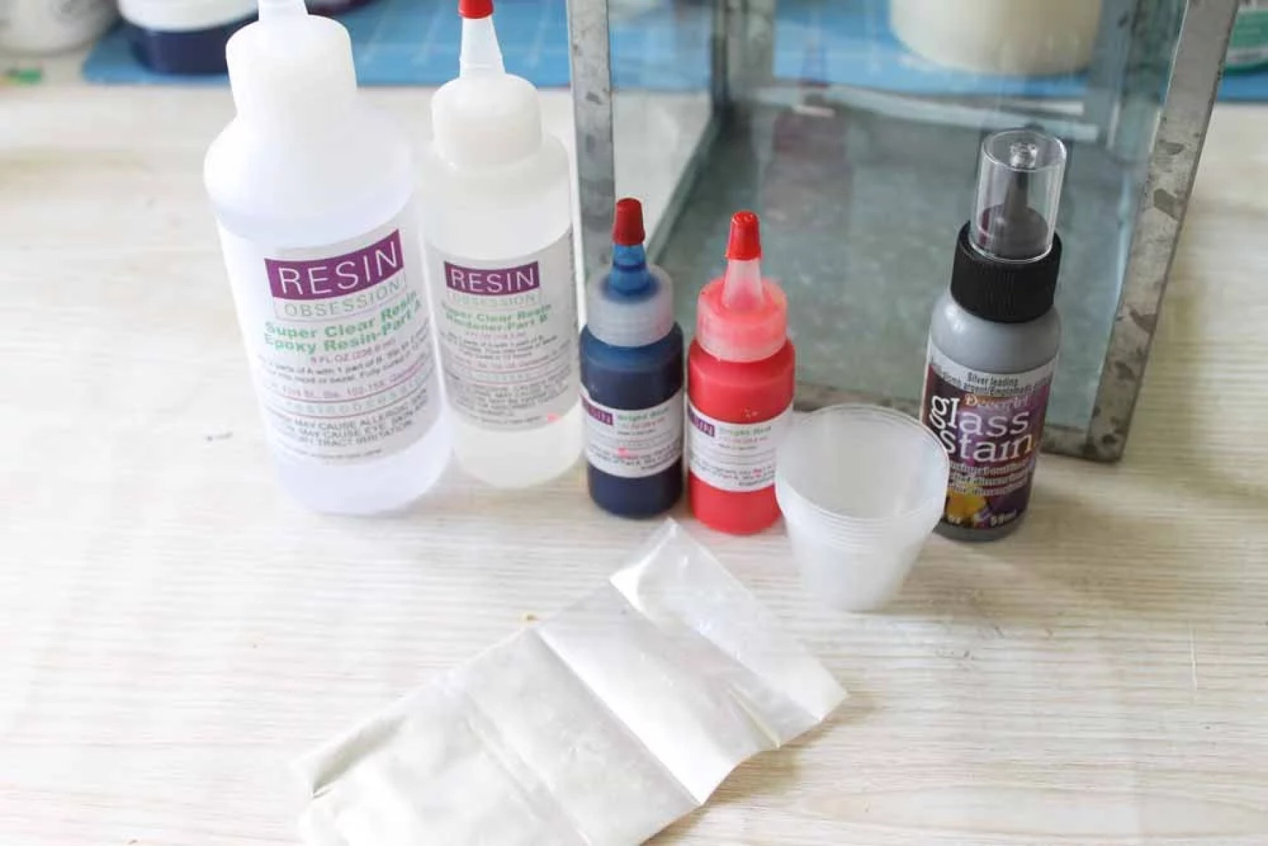 resin supplies for making resin patriotic lantern