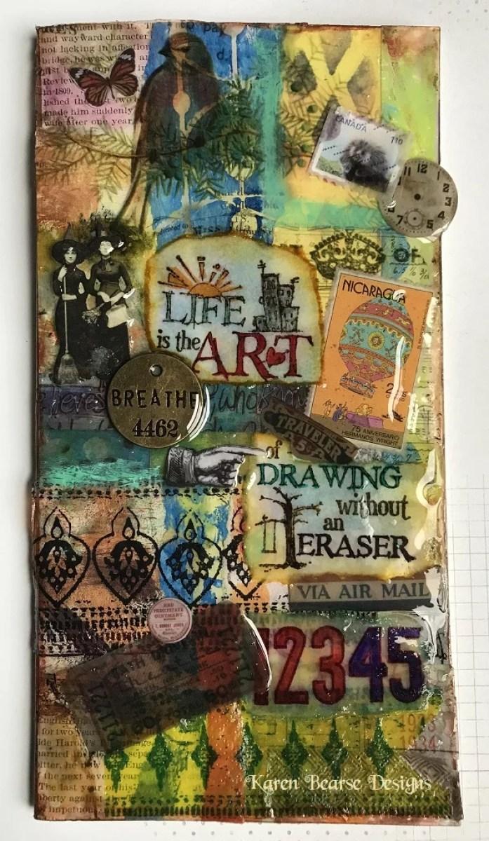 resin art journal cover DIY