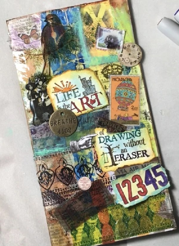 resin art journal cover